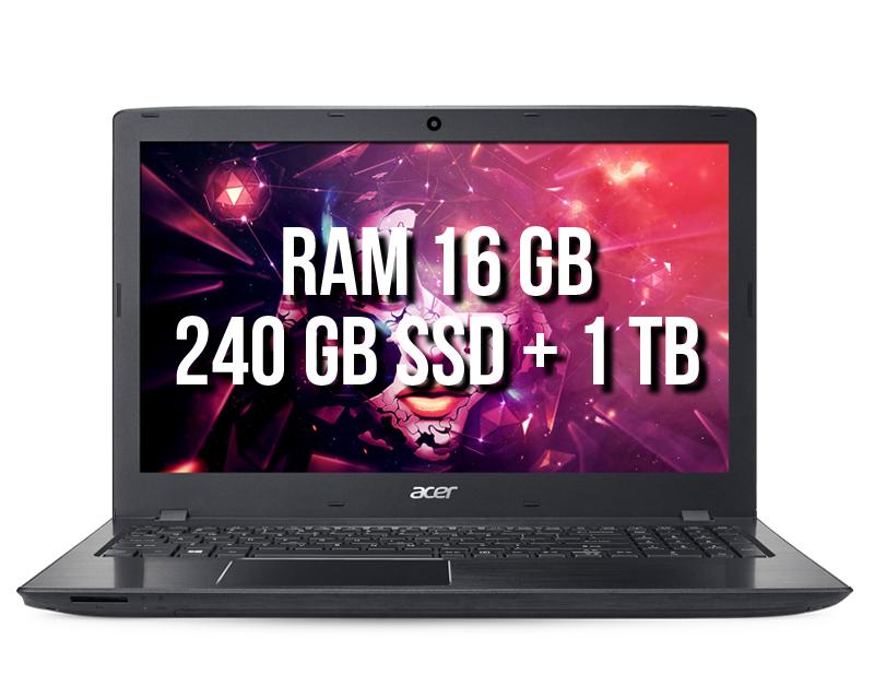 Acer E5-575G-57D4 16GB SSD240 + 1TB