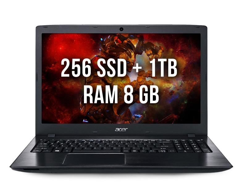 Acer E5-576G-81GD 8gb 256ssd +1Tb
