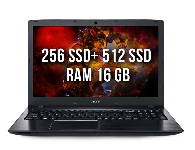Acer E5-576G-81GD 16gb 240ssd + 512ssd