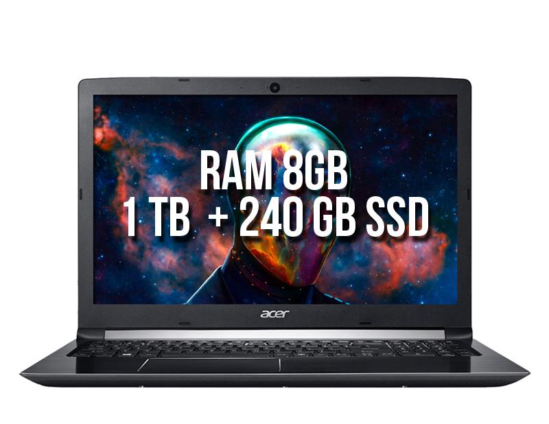 Acer Aspire A715-71G-554N 1tb+240 ssd
